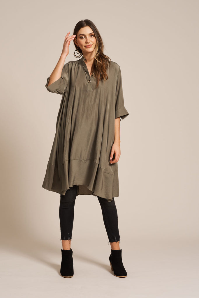 Eb & Ive Aretha Top/Dress Moss