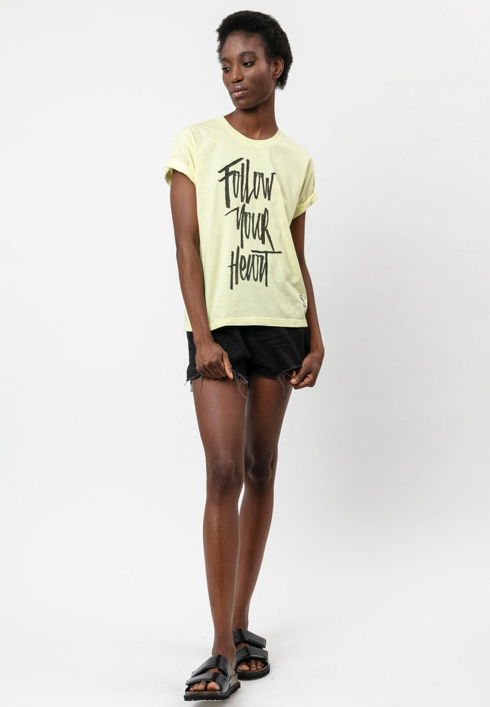 Religion Follow Your Heart Tee Tender Yellow