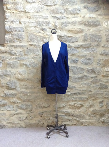b.young Longline and long sleeved Cardigan Royal Blue