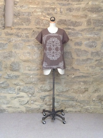 Plus Fine Rhodos Loose Fit T-Shirt Khaki