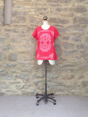 Plus Fine Rhodos Loose Fit T-Shirt Pink
