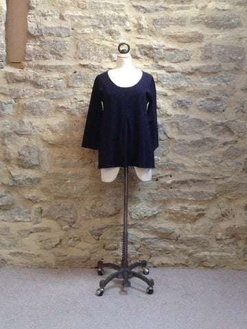 Great Plains Daria Pleat Front Knitted Top Navy