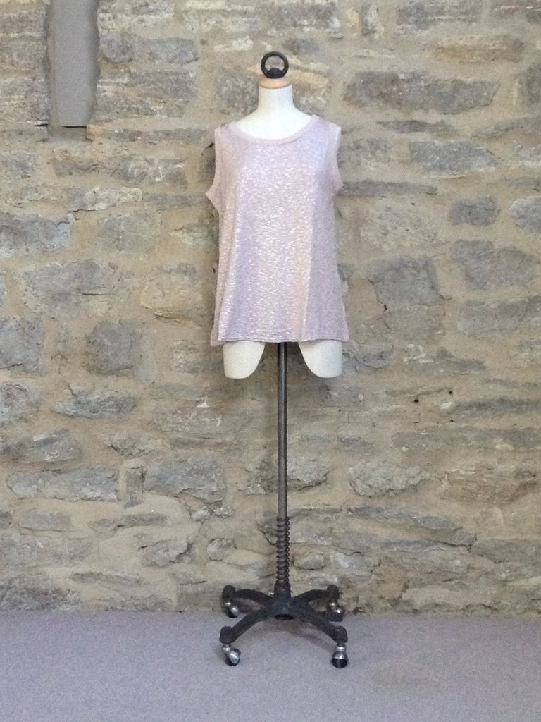 A Postcard from Brighton Benita Shimmer Sleeveless Top Naked Pink