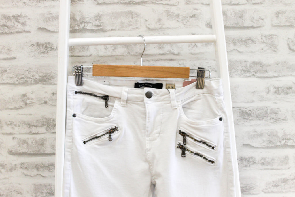 SAINT TROPEZ River Jeans, Cropped White