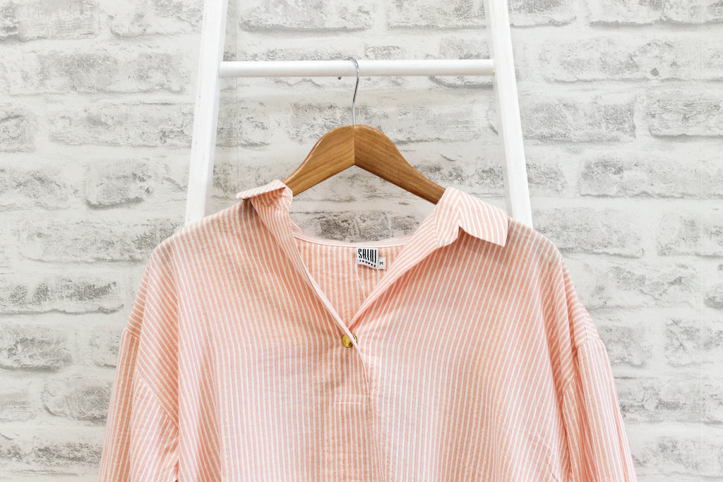 Saint Tropez shirt 3/4 sleeves with stripes, Pink