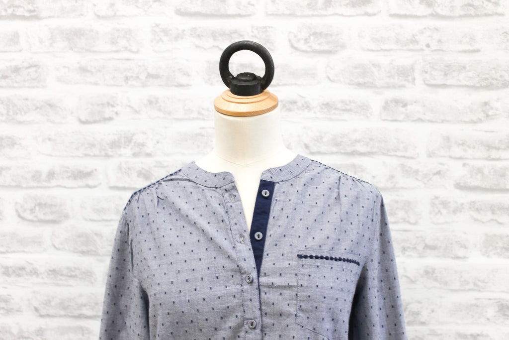 PLUS FINE Anjelita long Sleeve Shirt Blue