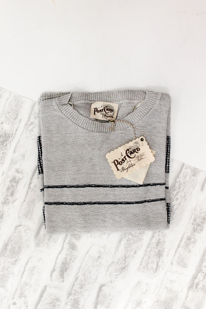 A Postcard From Brighton Lottie Knitted Jumper Pale Grey