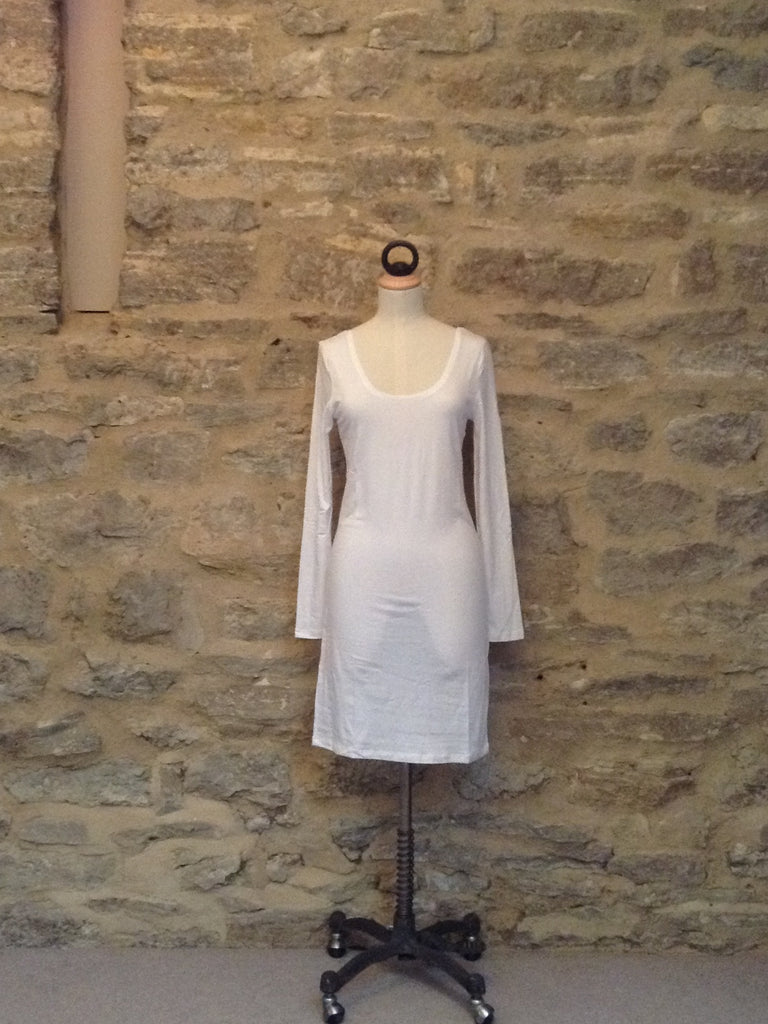 Saint Tropez Long Sleeved Underdress White