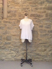 JUST FEMALE Odella T-shirt with short sleeves White