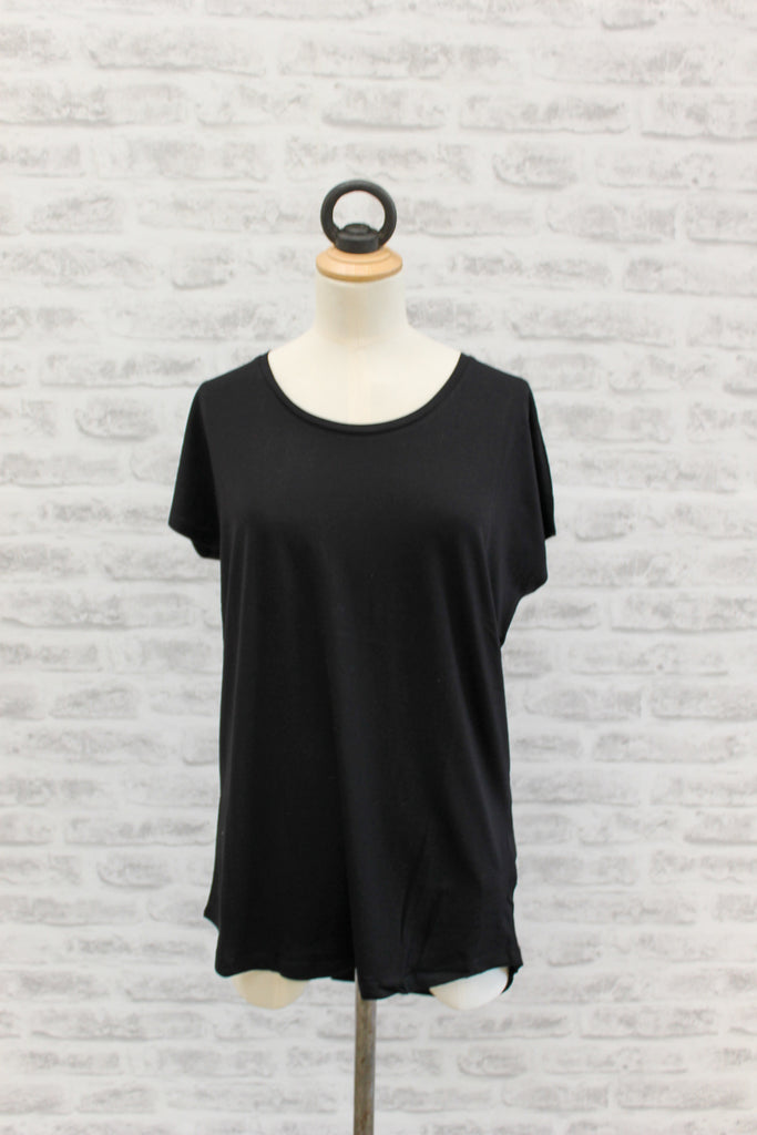 Saint Tropez Loose Fit Short Sleeve T-Shirt Black
