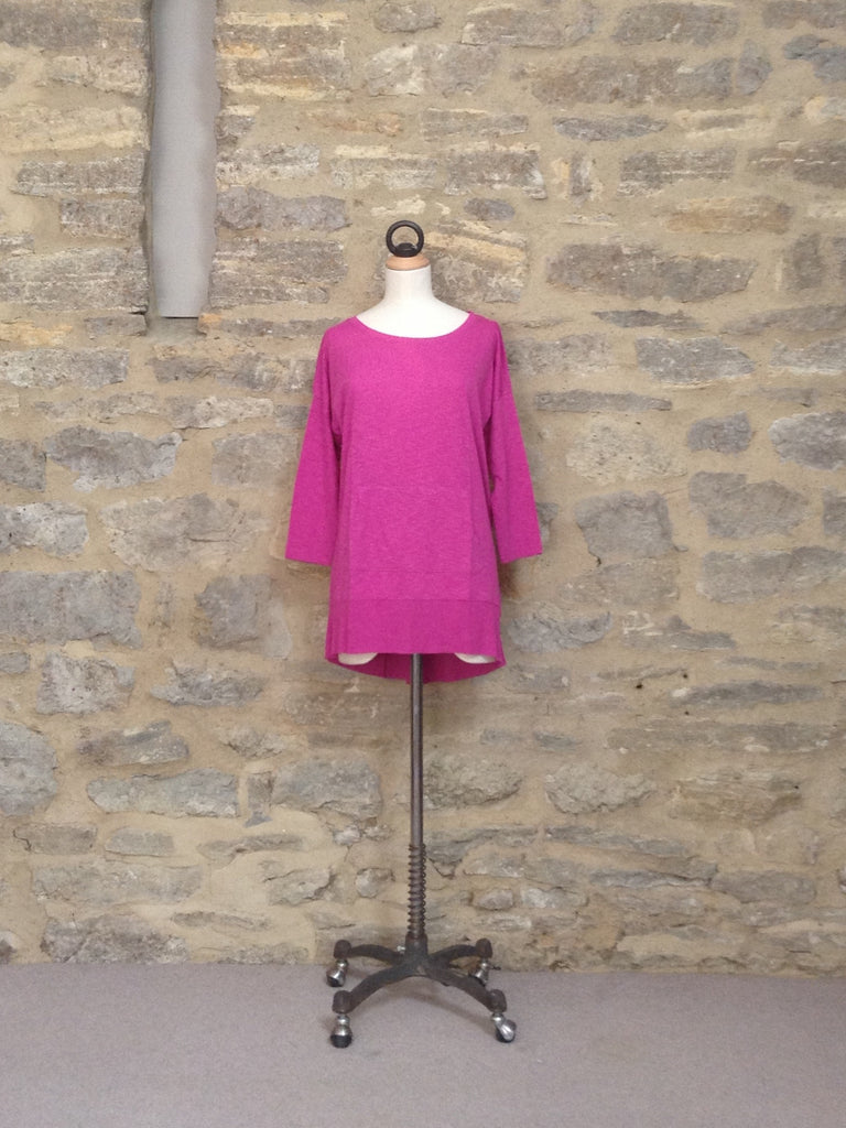 Lilla P Flame 3/4 sleeve Easy top Dahlia Pink