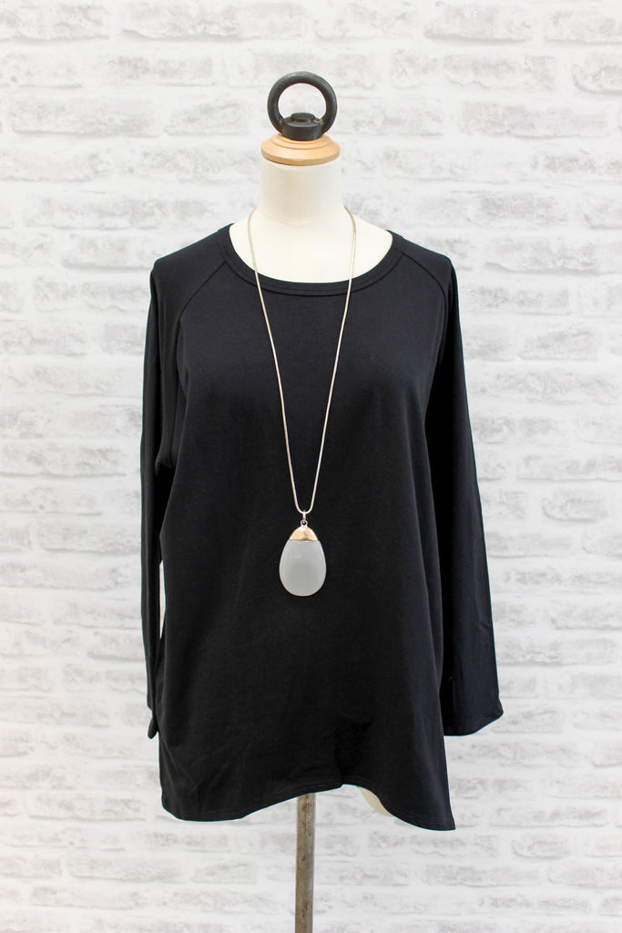 Chalk Robyn Long Sleeve Top Black