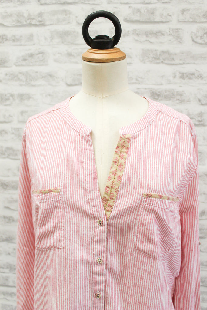 PLUS FINE Girona Long Sleeved Shirt Salmon Pink