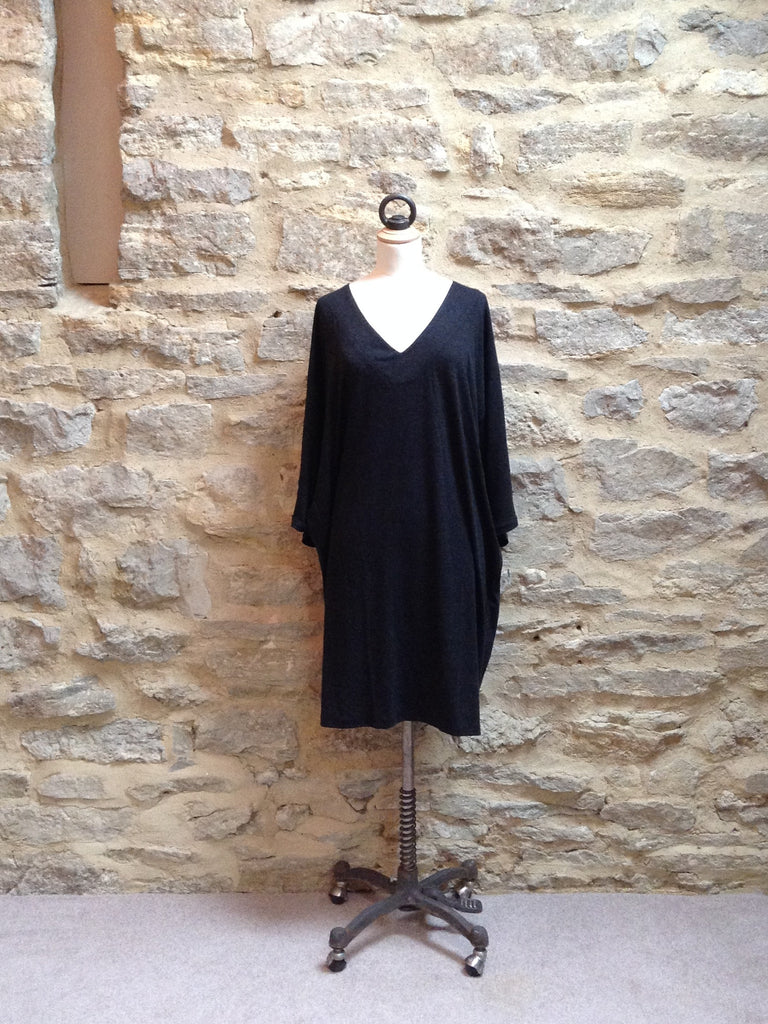 JUST FEMALE Ironic V-Neck Dress / Tunic Anthracite Grey