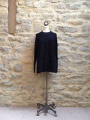 JUST FEMALE Italy longline Jumper Black