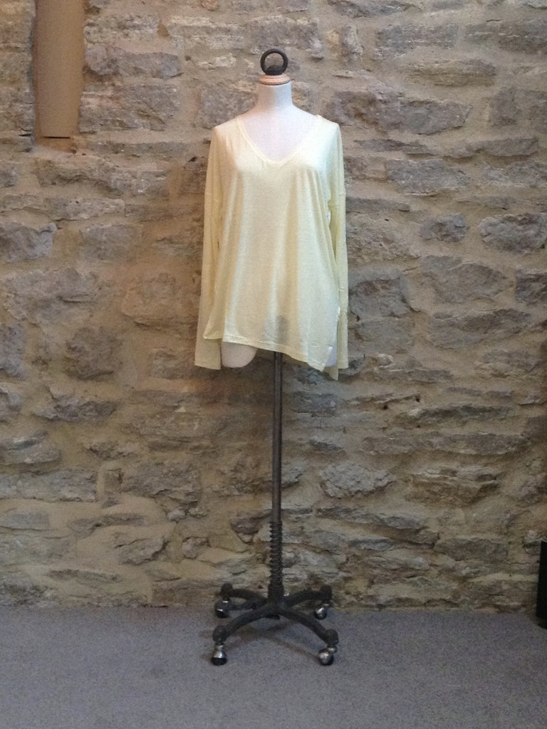Twisted Muse Heroni v-neck Long Sleeved Top Spring Yellow