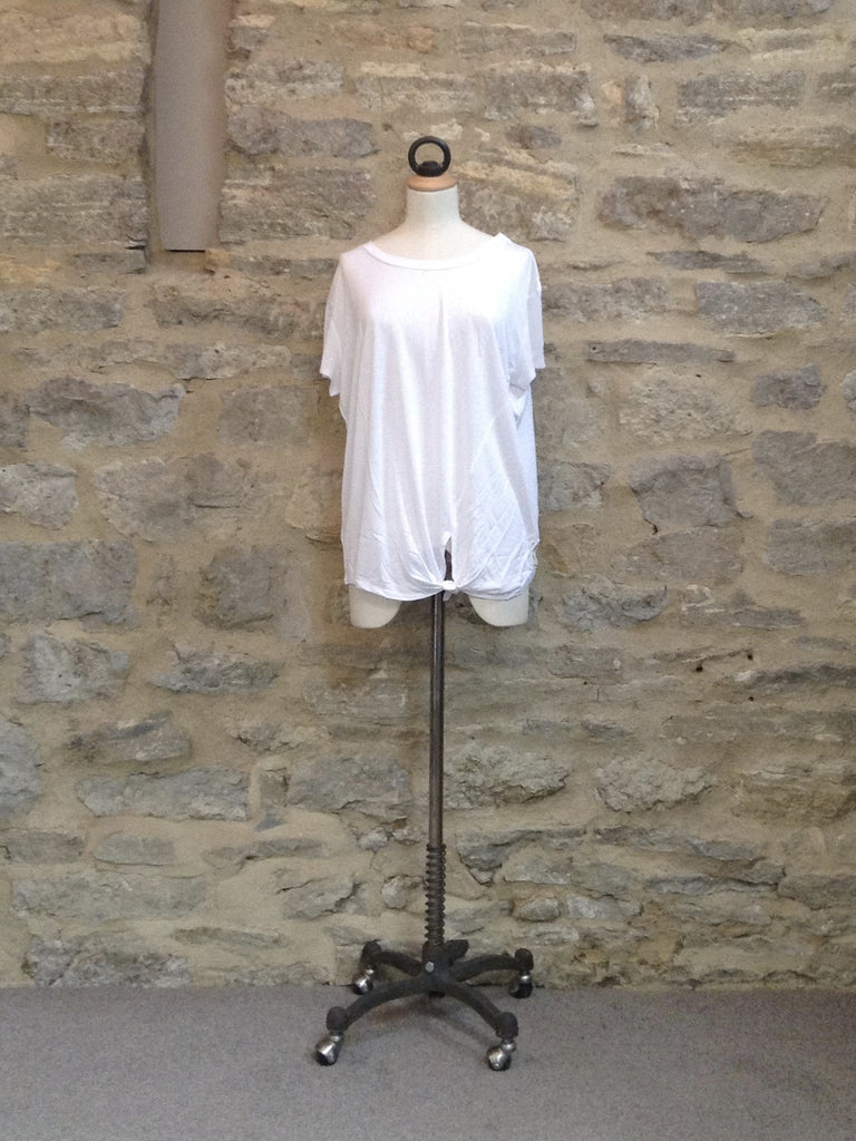 A Postcard From Brighton Lucy Lenzing Tie Front Top White