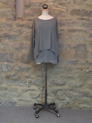 A Postcard From Brighton Karma Loose Top Smokey Green