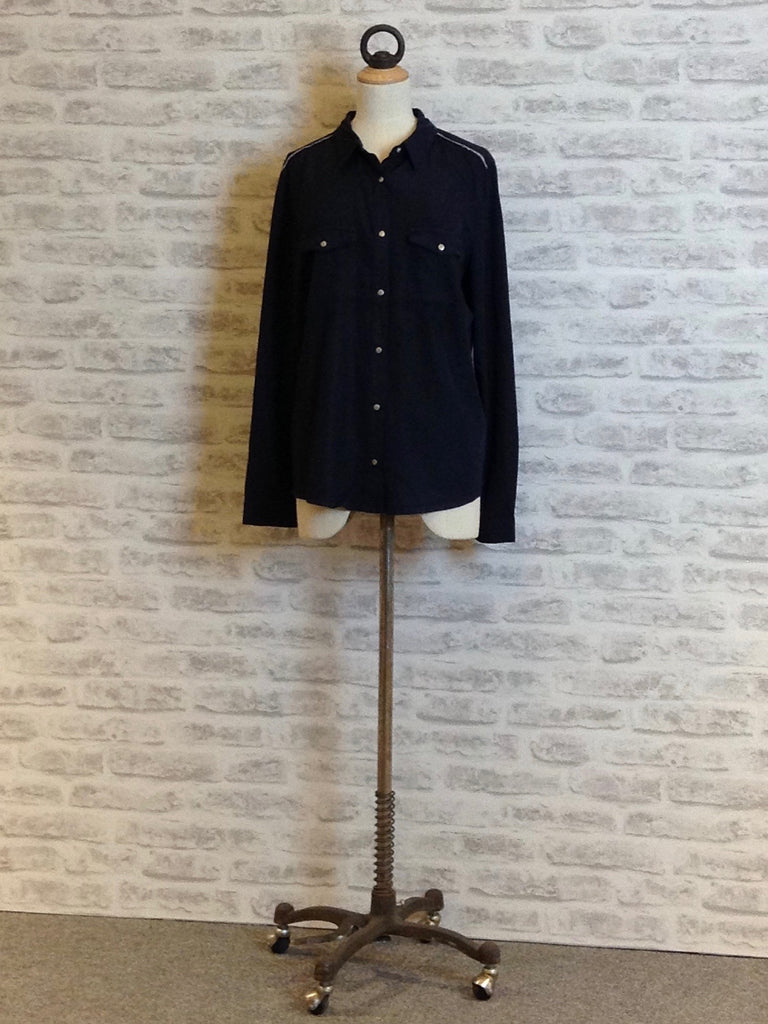 Saint Tropez Washed Long Sleeve Shirt, Navy