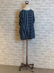 A Postcard from Brighton Babs Stripe Peek a Boo Top, Sky Blue