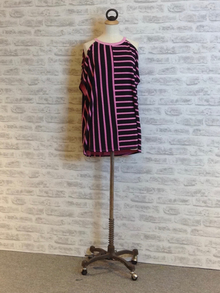 A Postcard from Brighton Babs Stripe Peek a Boo Top, Pinkest