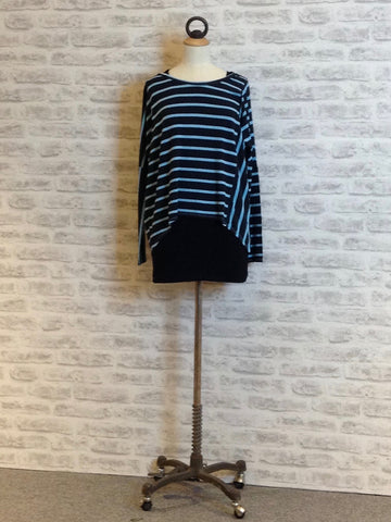 A Postcard from Brighton Bea Stripe Karma Top, Sky Blue