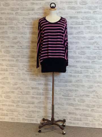 A Postcard from Brighton Bea Stripe Karma Top, Pinkest