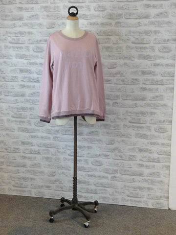 SAINT TROPEZ Hallo YOU long sleeve Sweat top, Pink