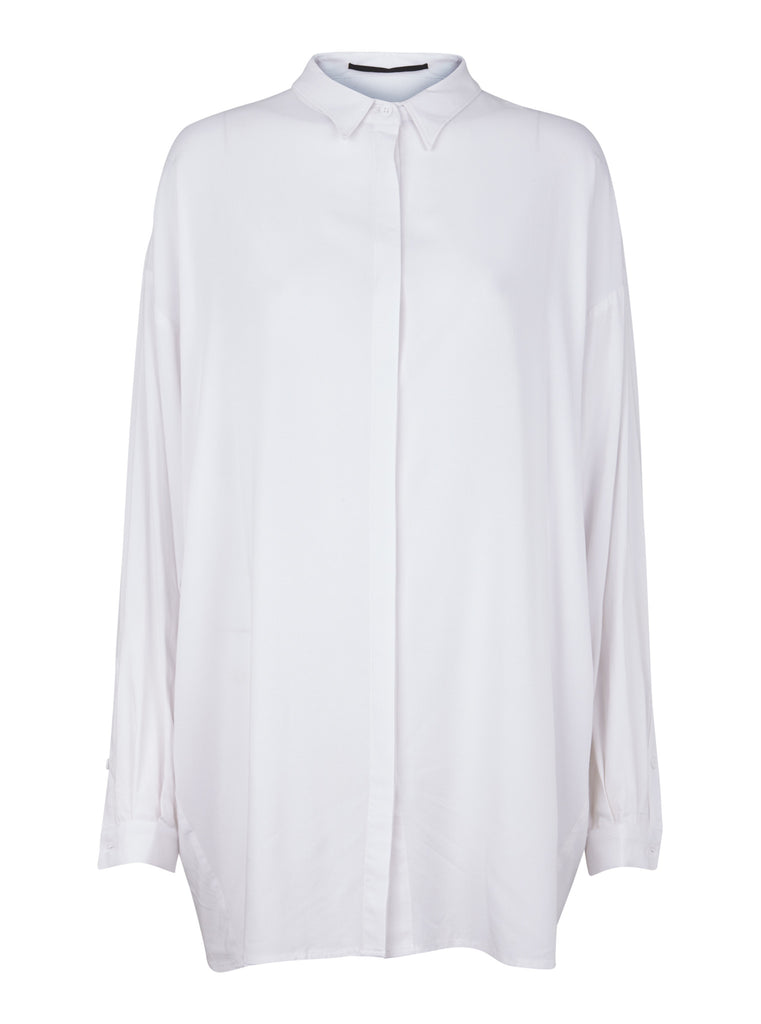 JUST FEMALE Jo Long Shirt White