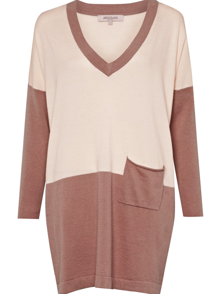 Great Plains Amore Block Tunic Dusky Pink & Cream