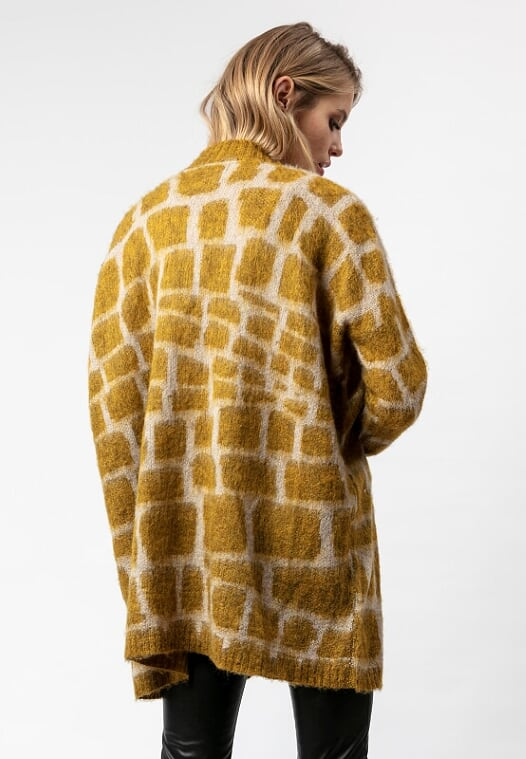 Religion Favour Long-Sleeved Cardigan Mustard
