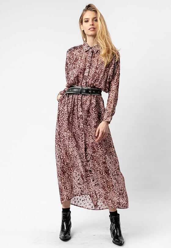 Religion Joy Long-Sleeved Shirt Dress Imprint