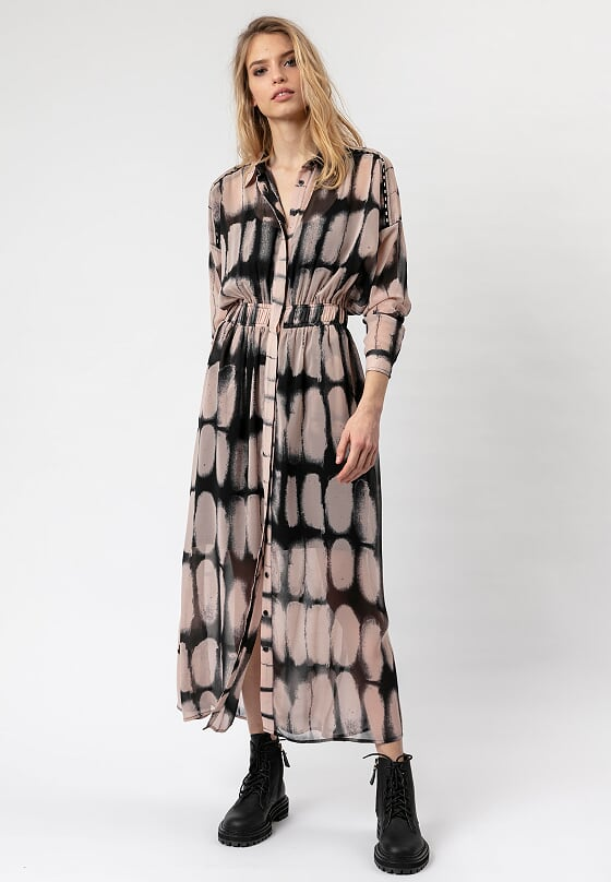 Religion Joy Long-Sleeved Shirt Maxi Dress Luminary