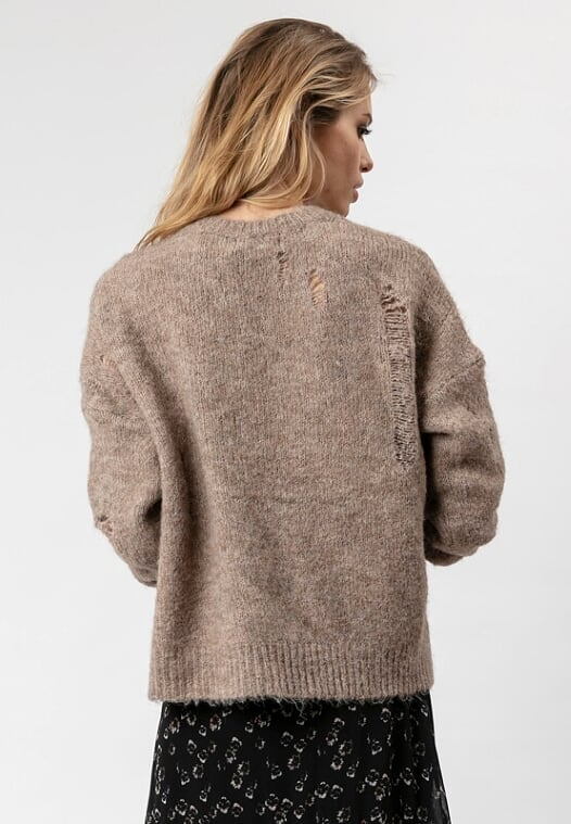 Religion Spark Long-Sleeved Jumper Taupe
