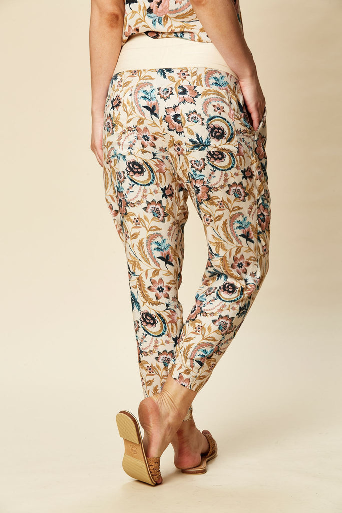 Eb & Ive Siela Trouser Buff Botanical