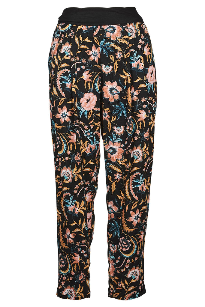Eb & Ive Siela Trouser Black Botanical