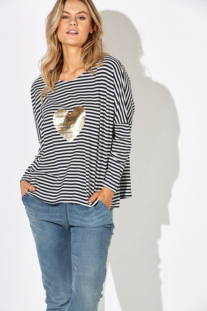 Haven Sail Away Top Indigo