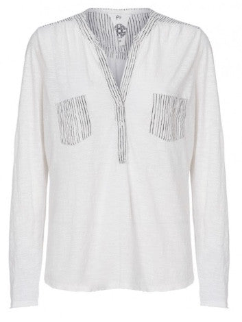 Plus Fine Abran Long Sleeve Shirt Ecru