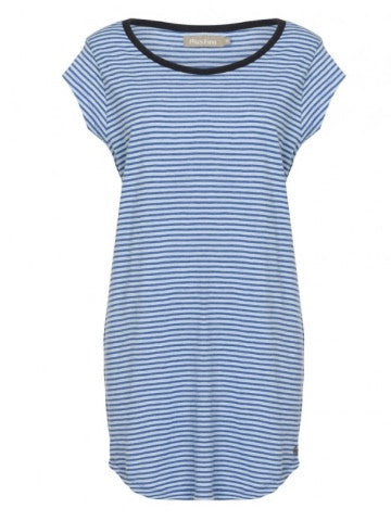 Plus Fine Adanalie T-Shirt Dress Coastal Blue