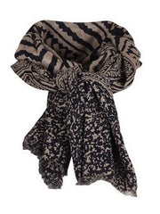 SAINT TROPEZ Tile Print Large Scarf, Multi String