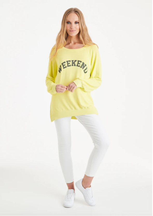 A Postcard From Brighton Weekend Print Sweat Limoncello