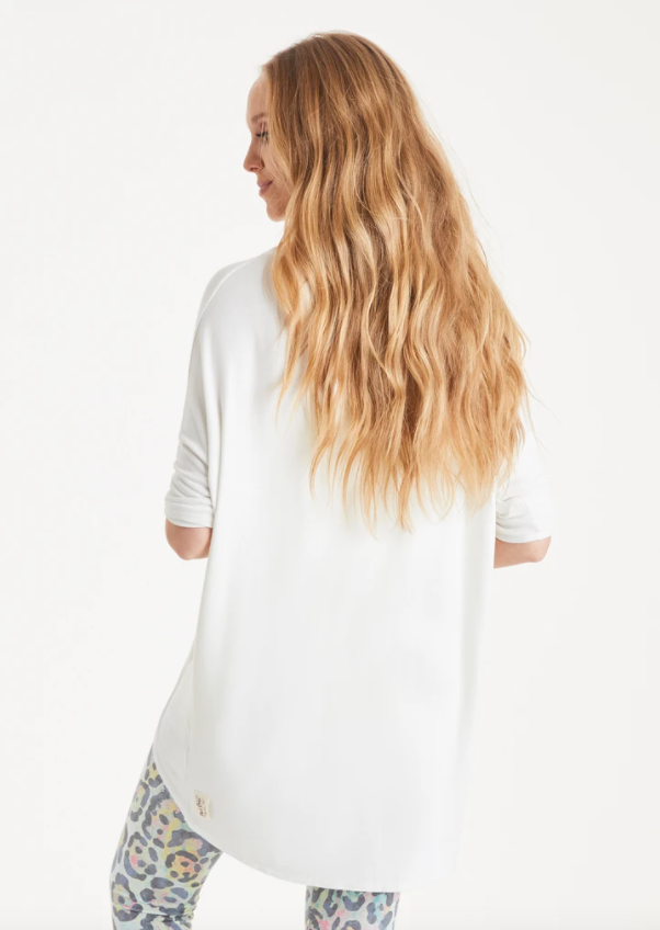 A Postcard From Brighton Flirty Relaxed Style Loose Fit Top Daisy White