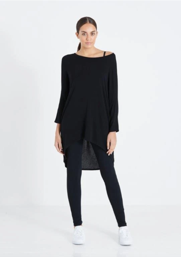 A Postcard From Brighton Flirty Relaxed Style Loose Fit Top Black