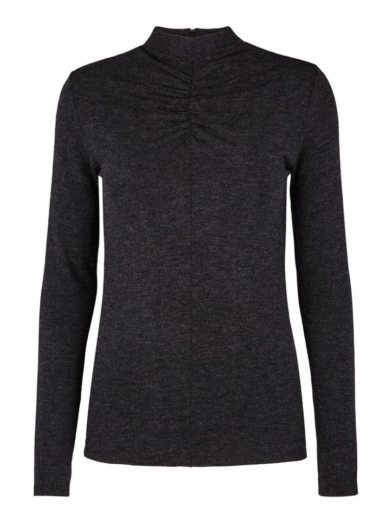 JUST FEMALE Article Long Sleeve Top Anthracite Grey