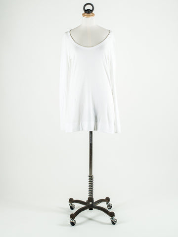 Lilla P Long Sleeved Scoop Neck T Shirt White