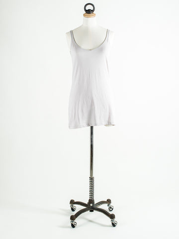 Lilla P Long Scoop Neck Tank White