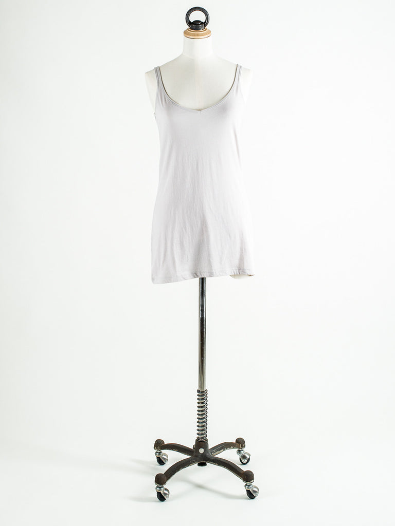 Lilla P Long V Neck Thin Strap Camisole White