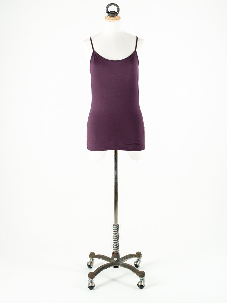 OXMO Strappy Vest Top Maroon/Plum