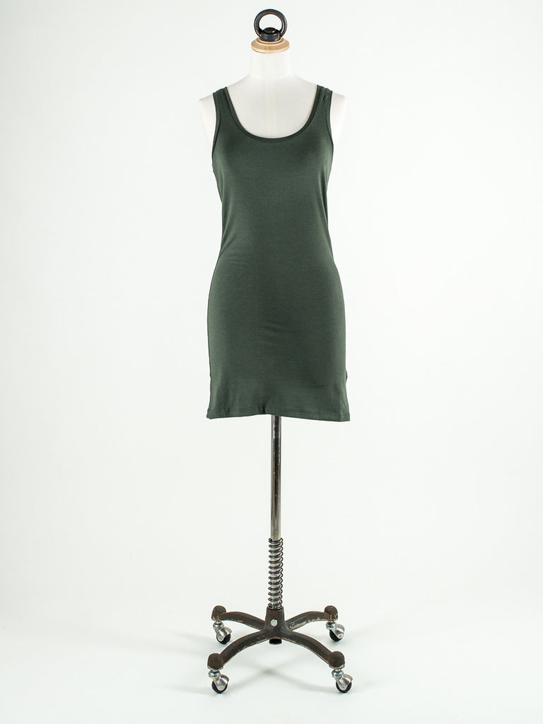 b.young Long Vest Top GREEN