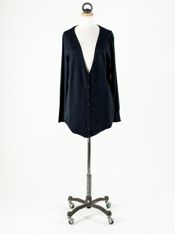 b.young Longline and long sleeved Cardigan Black